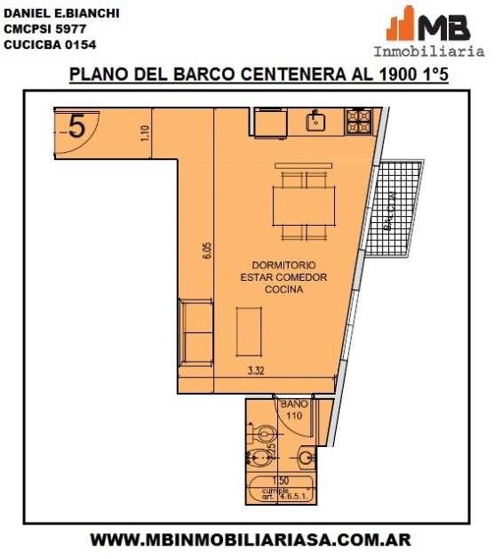 Parque chacabuco ph en construccion monoamb. en del barco centenera al 1900 1°5