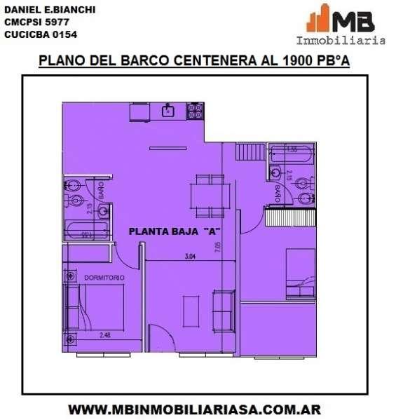Parque chacabuco venta ph en construccion de 3 amb. del barco centenera al 1900 pb
