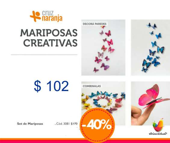 Cruz naranja, mariposas decorivas...promo especial