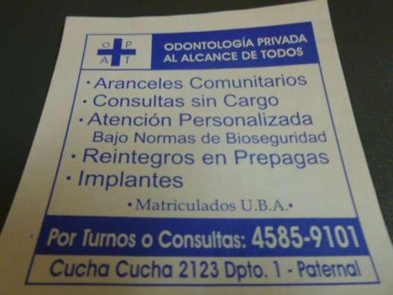 Odontologo privado en cucha cucha 2123 caba