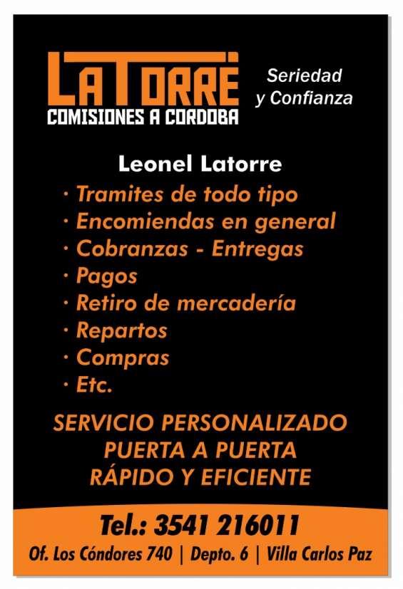 Comisiones comisionista cordoba- villa carlos paz