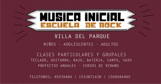 Talleres y clases de música en villa del parque