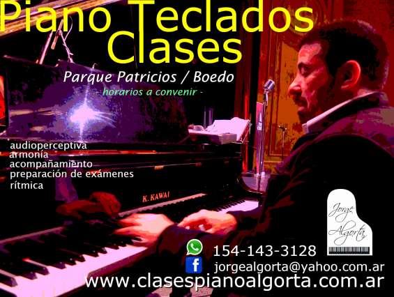 Piano, teclados, órgano, clases particulares