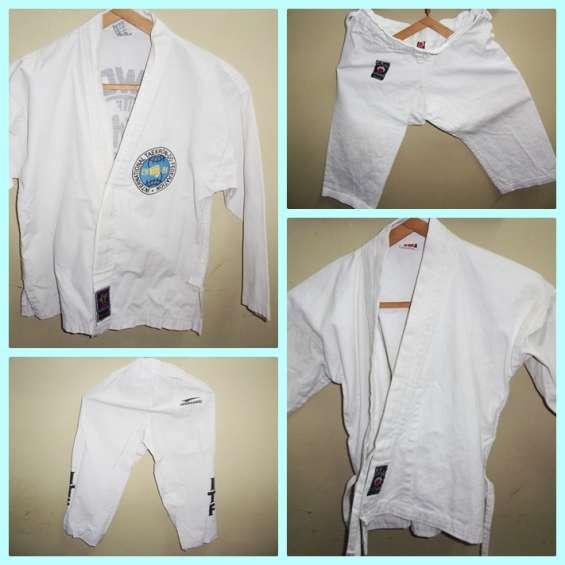 Traje taekwondo y karate para niño usado