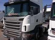 Scania G 340 mod.12 tractor de carretera con mochila y plato