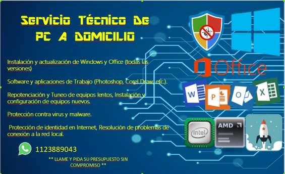 Servicio de mantenimiento y reparacion de computadoras y laptop a domicilio