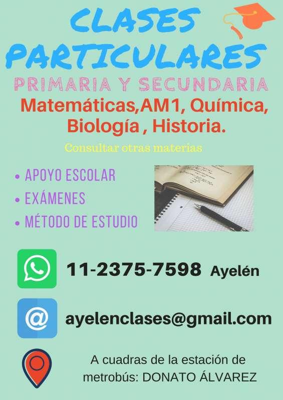 Clases particulares de primaria y secundaria - paternal