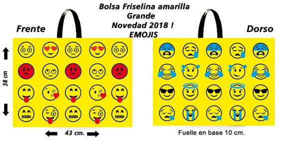 Bolsas reutilizables ecológicas emoticones