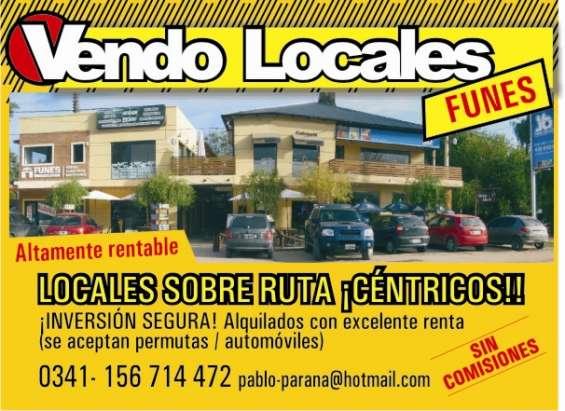 Funes: dueño, locales : renta y revalorizacion