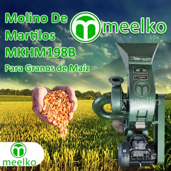 Molino triturador meelko de biomasa a martillo eléctrico 360 kg - mkh198b