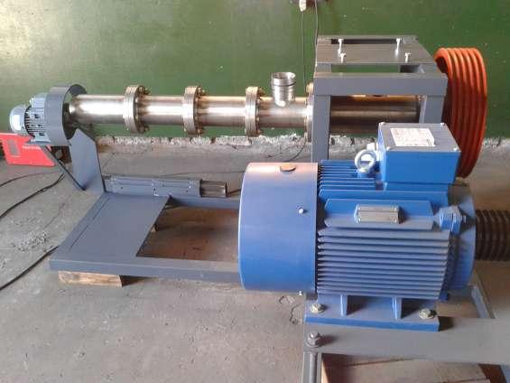 Extrusora y prensa para aceite de soja y oleaginosas