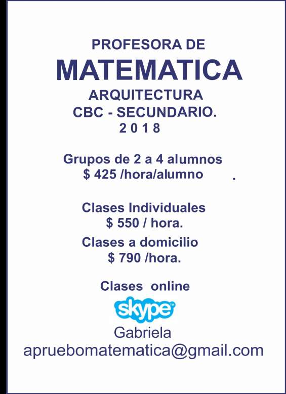 Clases online vía skype