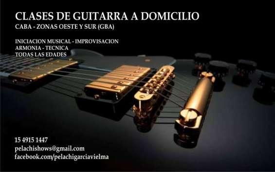 Clases de guitarra a domicilio - todas las edades
