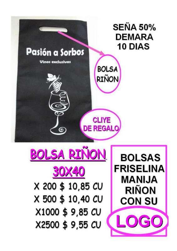e229e4ee3 Bolsas de friselina impresas precio de fabrica en Liniers ...