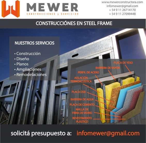 Construcciones – ampliaciones – reformas en steel frame
