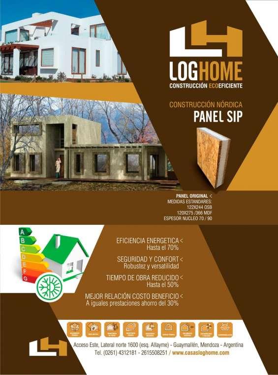 Construí con paneles sip log home