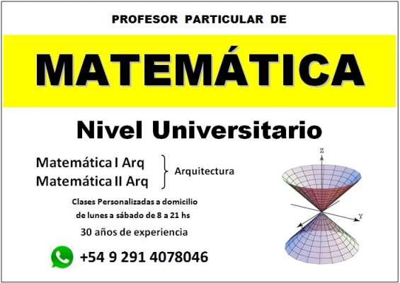 Matemática (arquitectura uns) clases de apoyo en bahía blanca