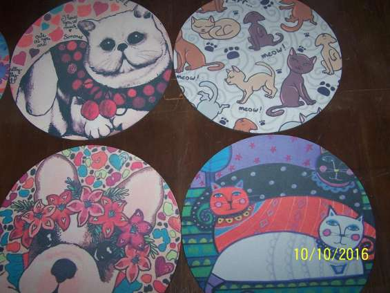 Mouse pad redondos y rectangulares personalizados sublimados
