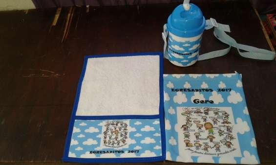 Set cantimplora toallita con bolsita personaliza sublimada