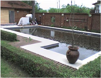Piletas de natación: todo tipo de piletas  en mampostería o de hormigón armado, la alimentación electrica para el bombeo y todo el sistema de filtro y de desagote.