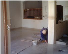 Colocación de revestimientos interiores y exteriores (excelente terminación, varios tipos).