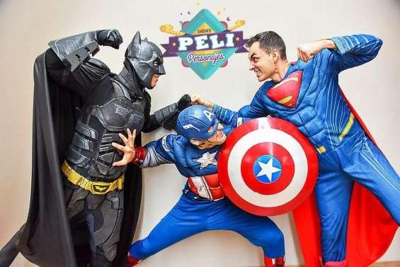 Show superheroes animacion hombre araña - iron man - capitan america - batman - flash hulk