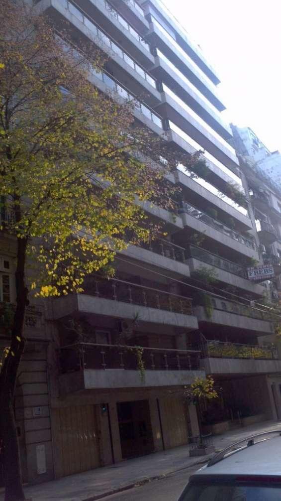 Recoleta av. pte quintana excelente 2 ambientes amplios de 70 m2 balcon corrido , cochera