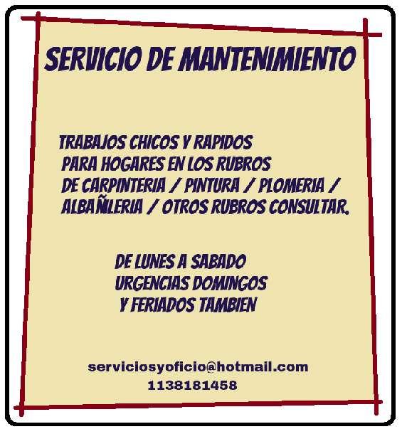 # servicio de mantenimiento para hogares