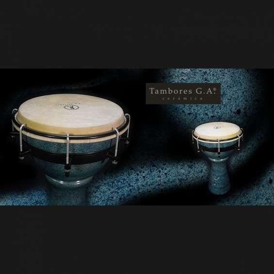 Tambores cerámica percusión g.a. djembe - derbake