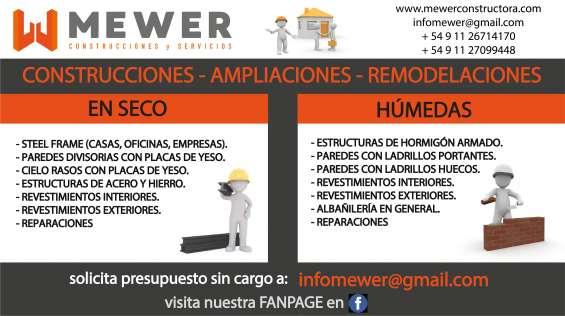 Construcciones – ampliaciones – reformas - servicios