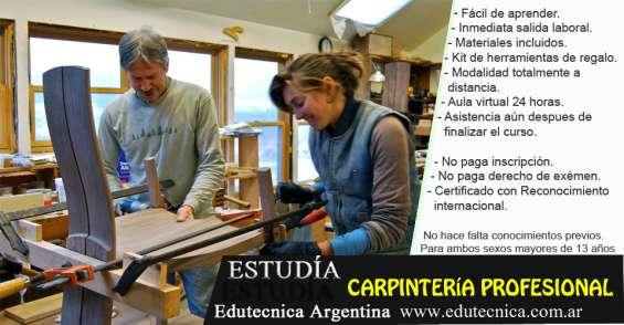 Curso de carpintería profesional con materiales y herramientas
