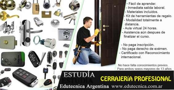 Curso de cerrajería profesional con herramientas y materiales