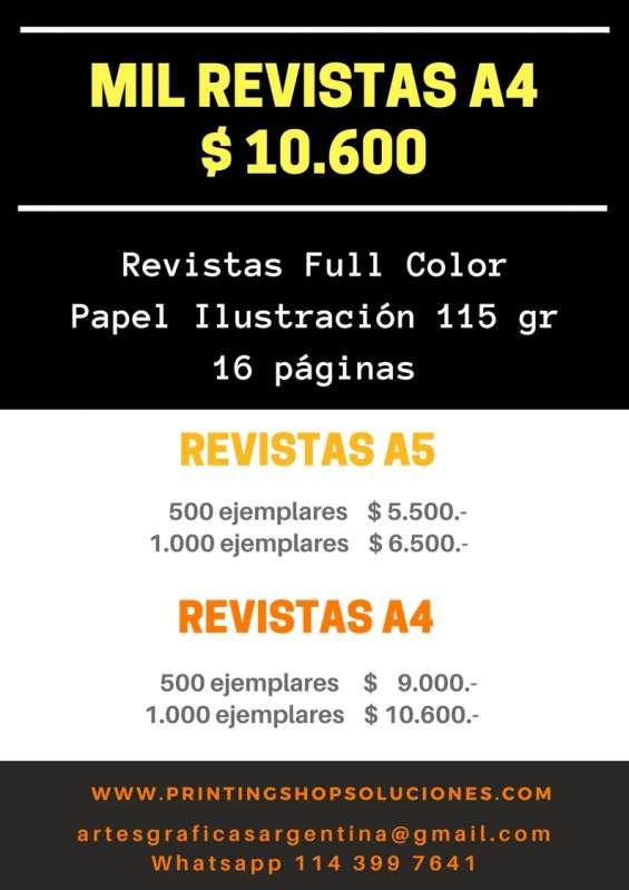 Printing shop soluciones gráficas imprenta offset revistas y folletos