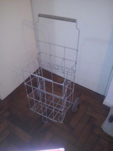 Chango metalico plegadizo para compras