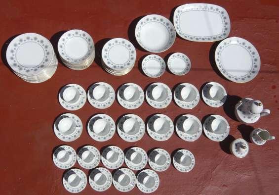 Juego completo de vajilla de porcelana blanca 87 piezas (marca tsuji)