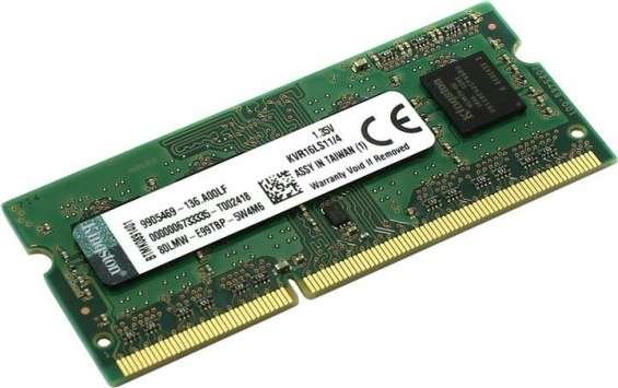 Memoria ram 4gb ddr3l 1600 sodimm nueva en su estuche