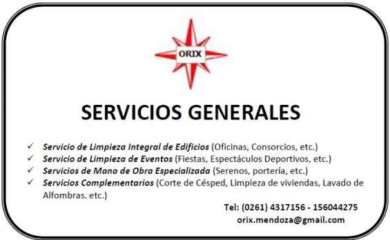 Orix servicio de limpieza y mantenimiento