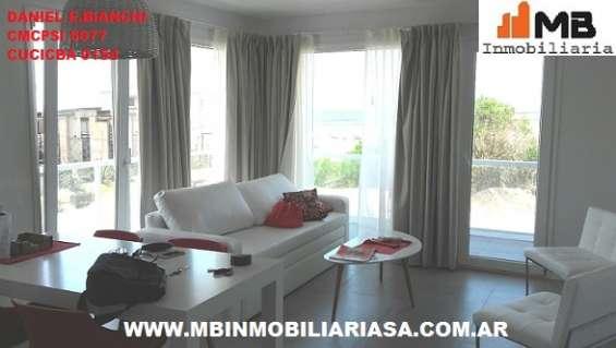 """Villa gesell alquiler dpto 3 amb.c/balcon en """"espacio marina"""""""