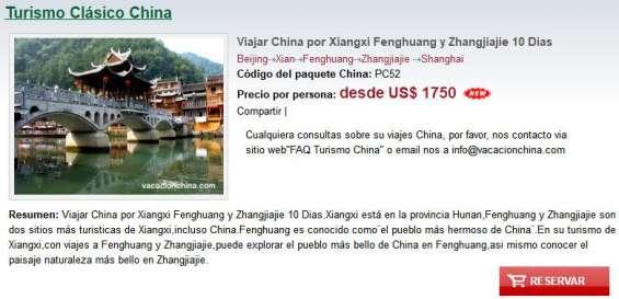 Viajar china con zhangjiajie y fenghuang