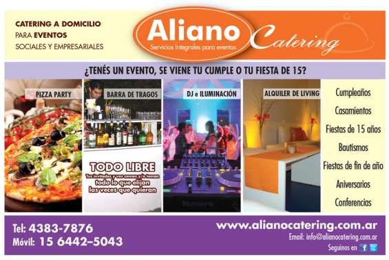 Aliano catering barras moviles de tragos pizza party alquiler de living 15 6442-5043