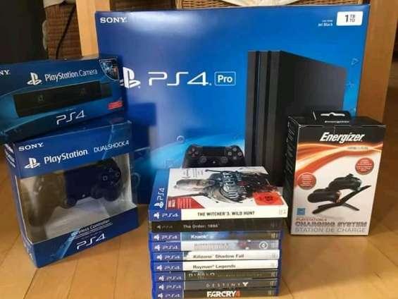 En venta sony playstation 4 pro con 2 controladores + 10 juegos