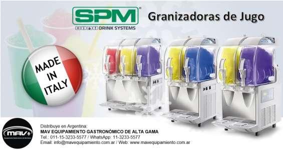 Mav granizados de jugo spm, maquina granita, granizadoras de jugo, jugo granizado