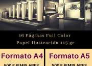 Impresion offset de revistas, folletos, catalogos…