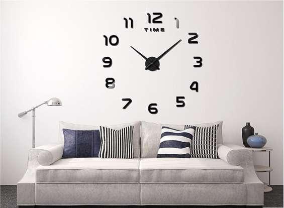 Reloj gigante de pared grandes efecto 3d. envios a todo el pais