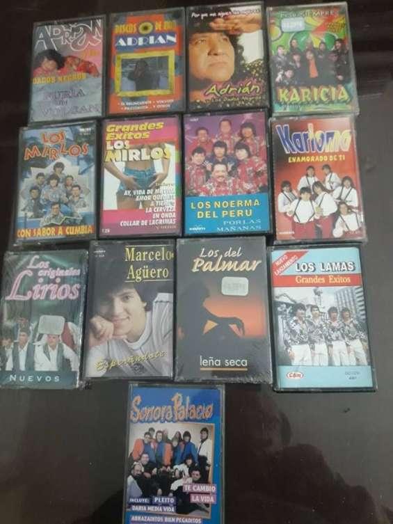 500 cassettes de cumbia y cuarteto nuevos