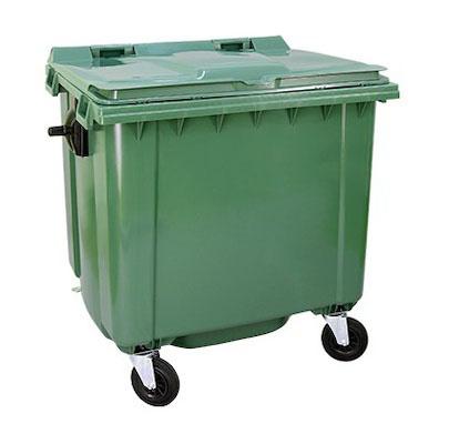 Cesto contenedor residuos 1100 lts tacho urbano