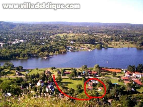 Tan solo 70 metros del lago ( foto aerea )