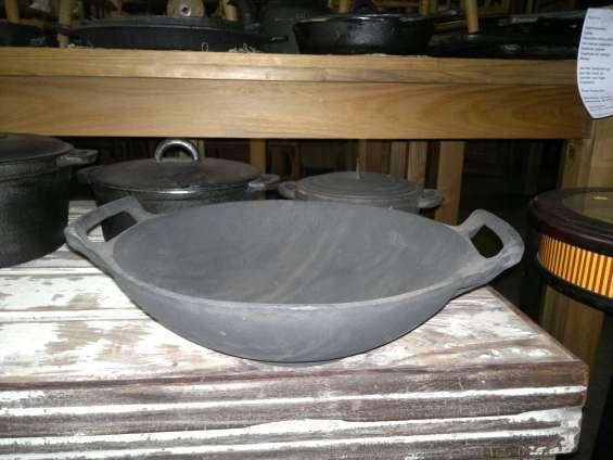 Wok de fundicion de hierro