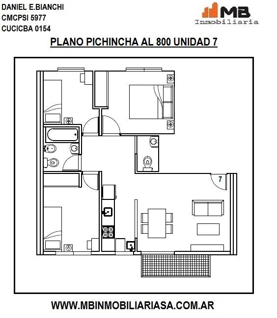 Balvanera venta en pozo dpto 4 amb.c/balcon en pichincha al 800 7p