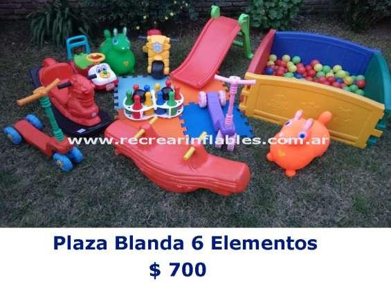 Plaza blanda 6 elementos